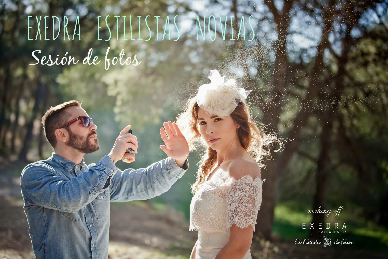 La sesión de fotos de Exedra Estilistas Novias