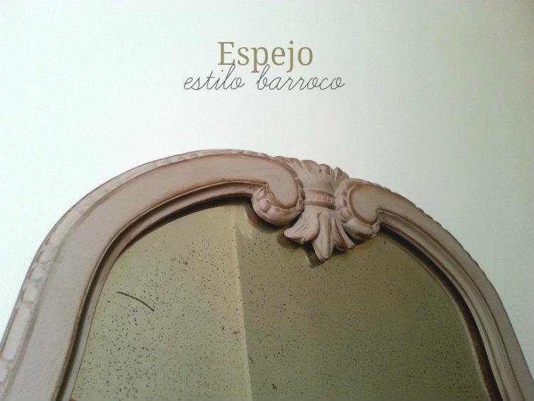 Antes y después de un espejo estilo barroco