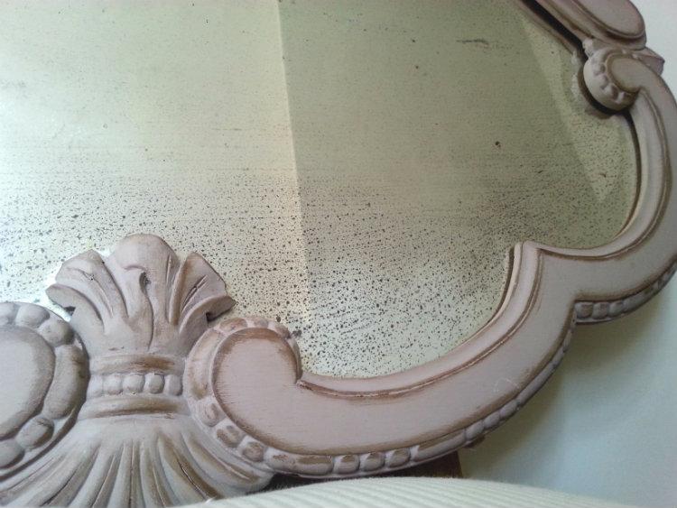 Restauración espejo barroco