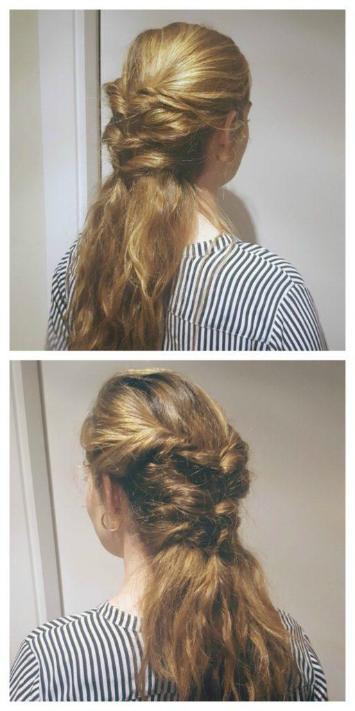 Peinado triple twist