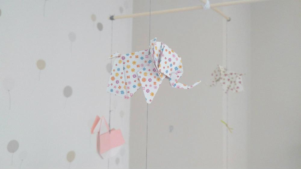Carrusel bebé de papiroflexia Papeleando