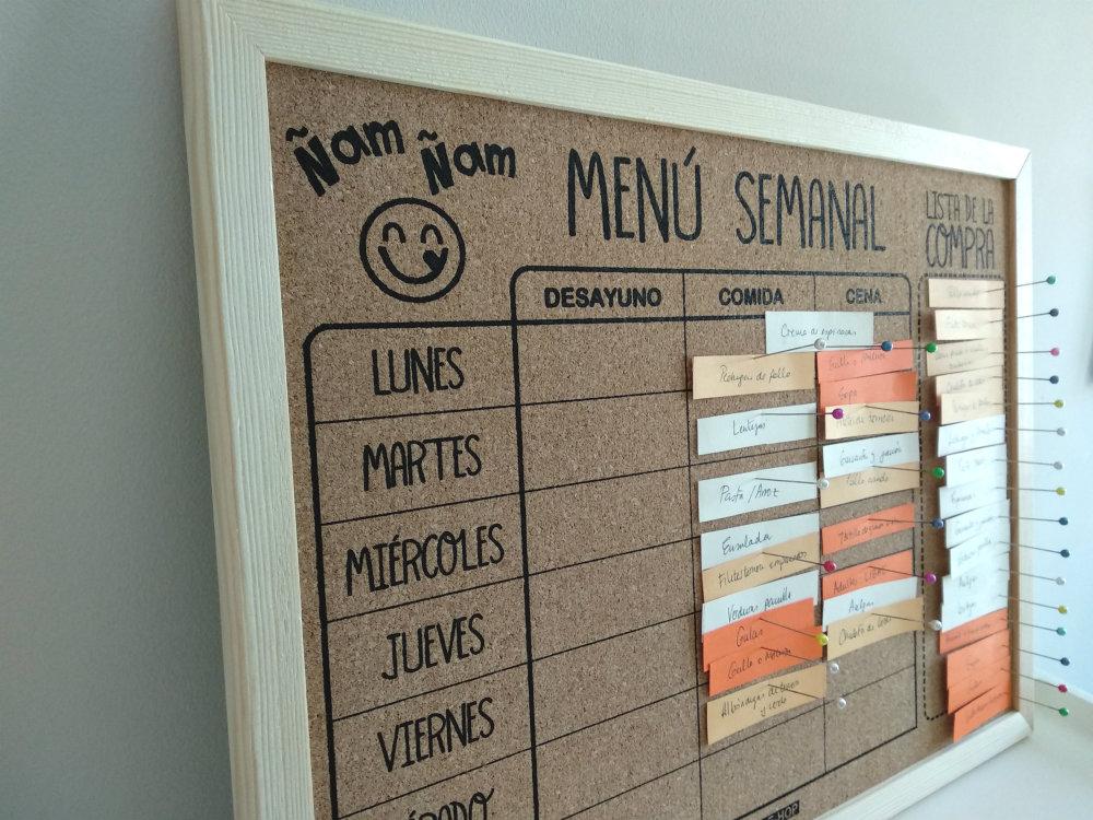 Organización de menus semanales